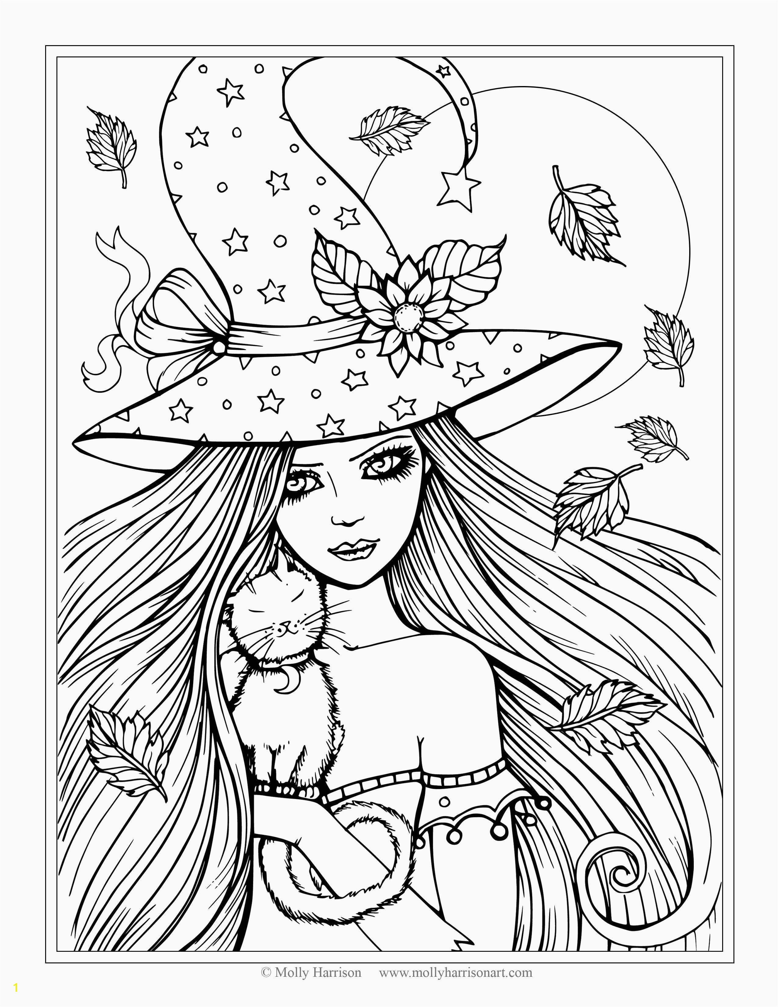 Anime Girl Coloring Pages Printable Download