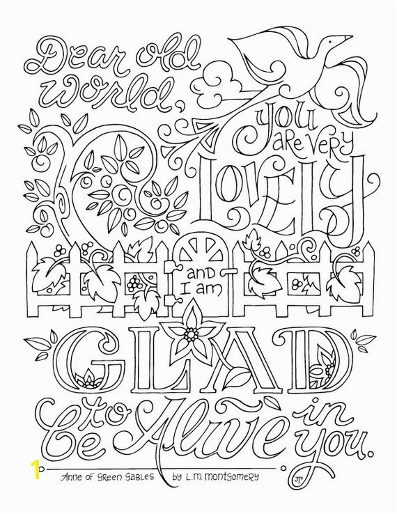 Anne Of Green Gables Coloring Pages Anne Of Green Gables Coloring Page Lm Montgomery Quotes Adults