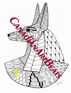 Anubis Egyptian God of the Afterlife Art Coloring Page Printable Downloadable by CanadianArtBeats on Etsy Anubis