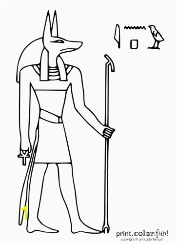 Egyptian Anubis Coloring Page Print Color Fun