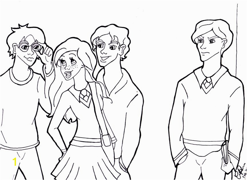 Draco Ginny Harry And Seamus By Corsica Deviantart House Anubis Coloring Pages