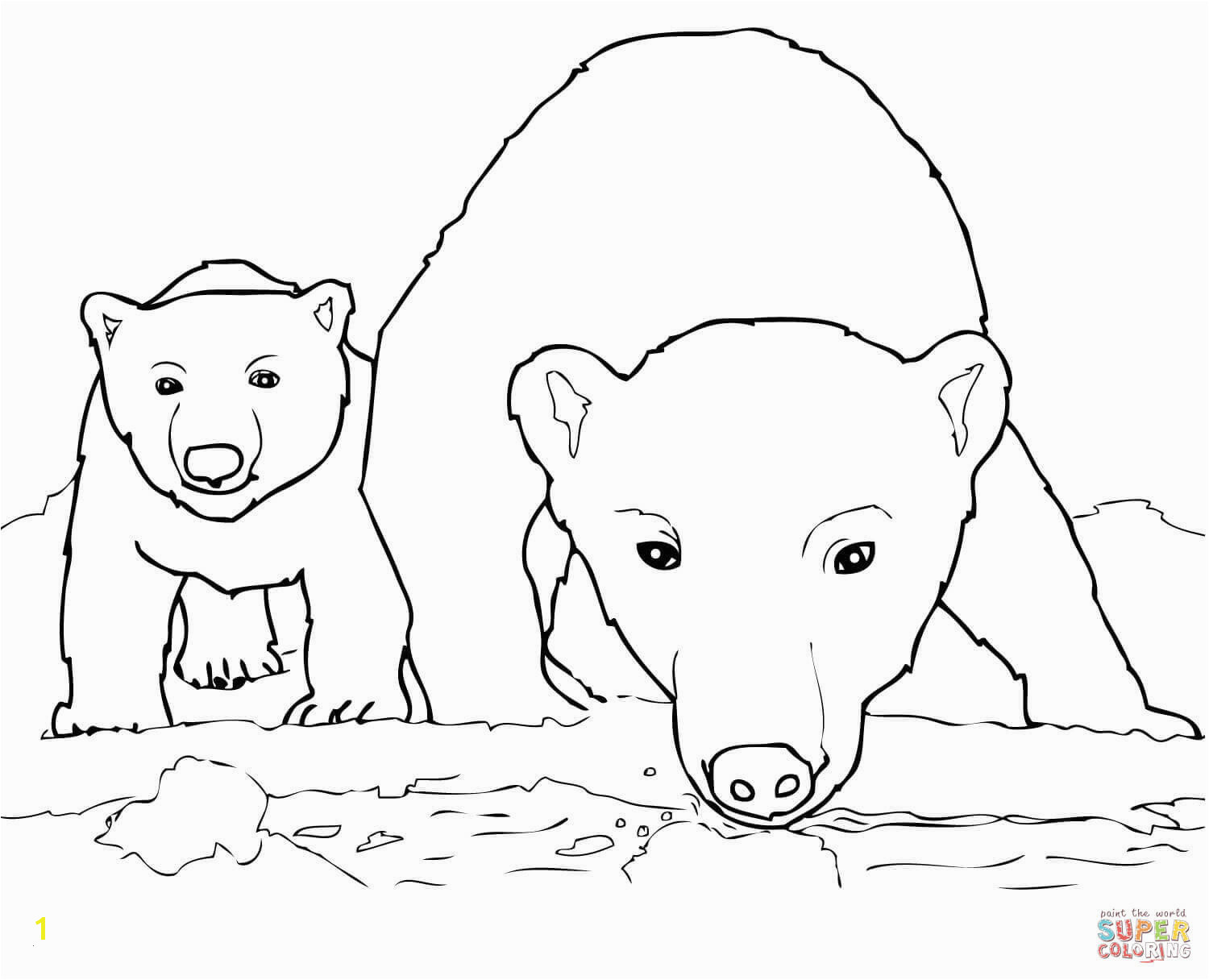 Polar Bear Coloring Pages Polar Bear Coloring Book Awesome Best Od Dog Coloring Pages Free