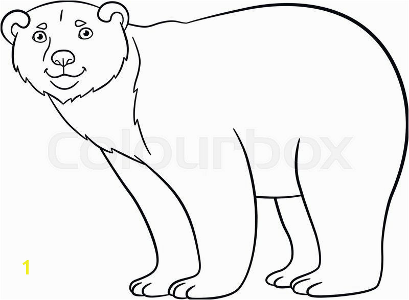 Polar Express Coloring Pages Unique Coloring Pages Cute Polar Bear Stands and Smiles Polar Express