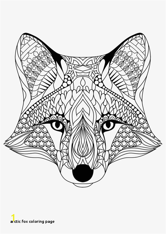 Arctic Fox Coloring Page Free Printable Coloring Pages for Adults 12 More Designs
