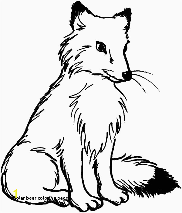 Arctic Fox Coloring Pages Arctic Fox Coloring Pages