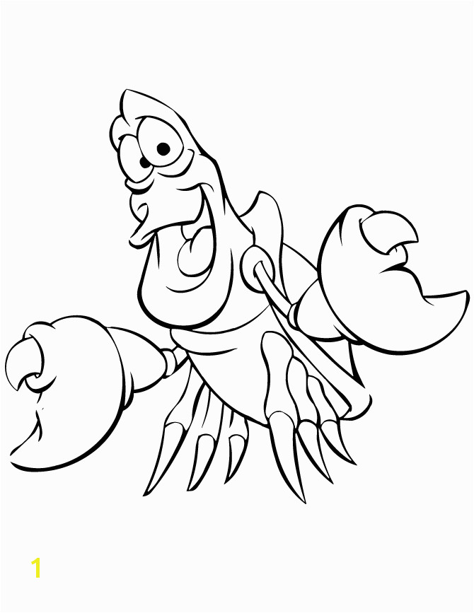Little mermaid coloring pages sebastian the crab