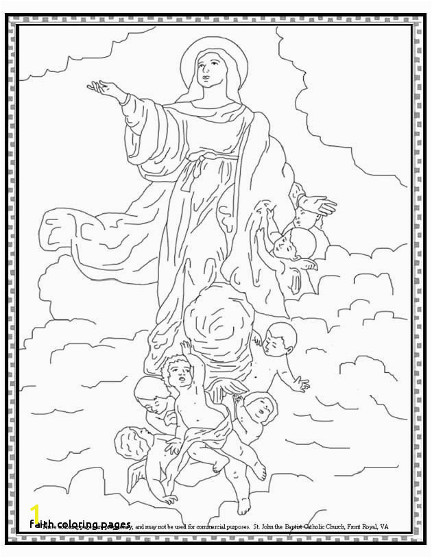 Faith Coloring Pages assumption the Blessed Virgin Mary Coloring Page