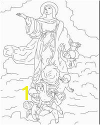 Assumption of Mary coloring page and recipe ideas for celebrating the feast from Catholic Icing Catholic