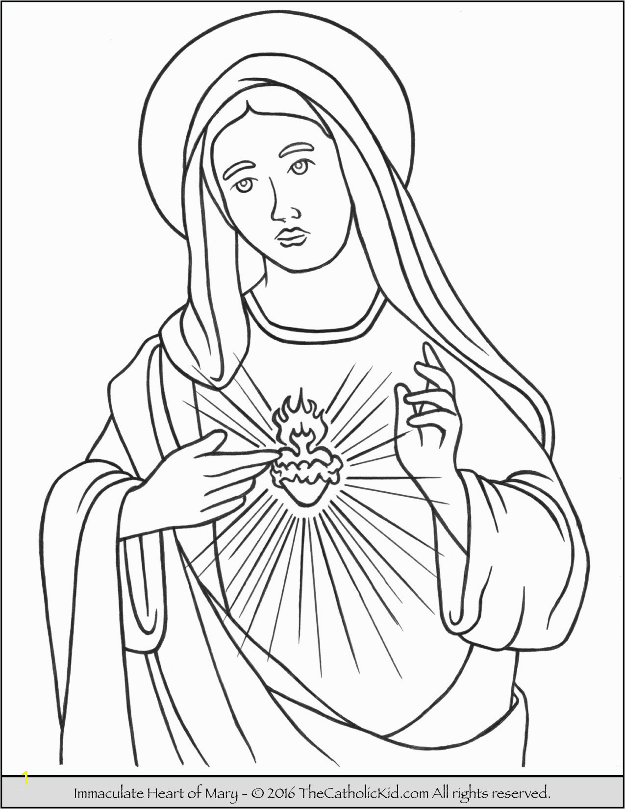 Mary Mother Jesus Coloring Pages Mary Mother God Coloring Page Luxury assumption Mary Coloring
