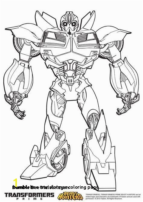 24 Bumblebee Transformer Coloring Page