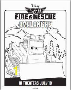Planes Fire and Rescue Coloring Pages Avalanche planes disney coloring Disney