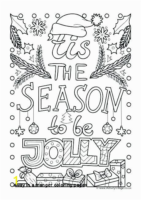 Away In A Manger Coloring Pages Nativity Scene Coloring Book Nativity Scene Coloring Book Manger