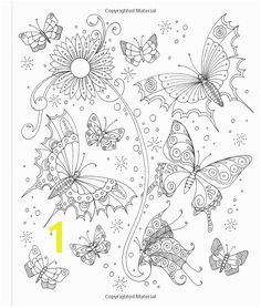 Tangled Gardens Coloring Book 52 Intricate Tangle Drawings to Color with Pens Markers or Pencils Jane Monk Amazon Books Butterfly