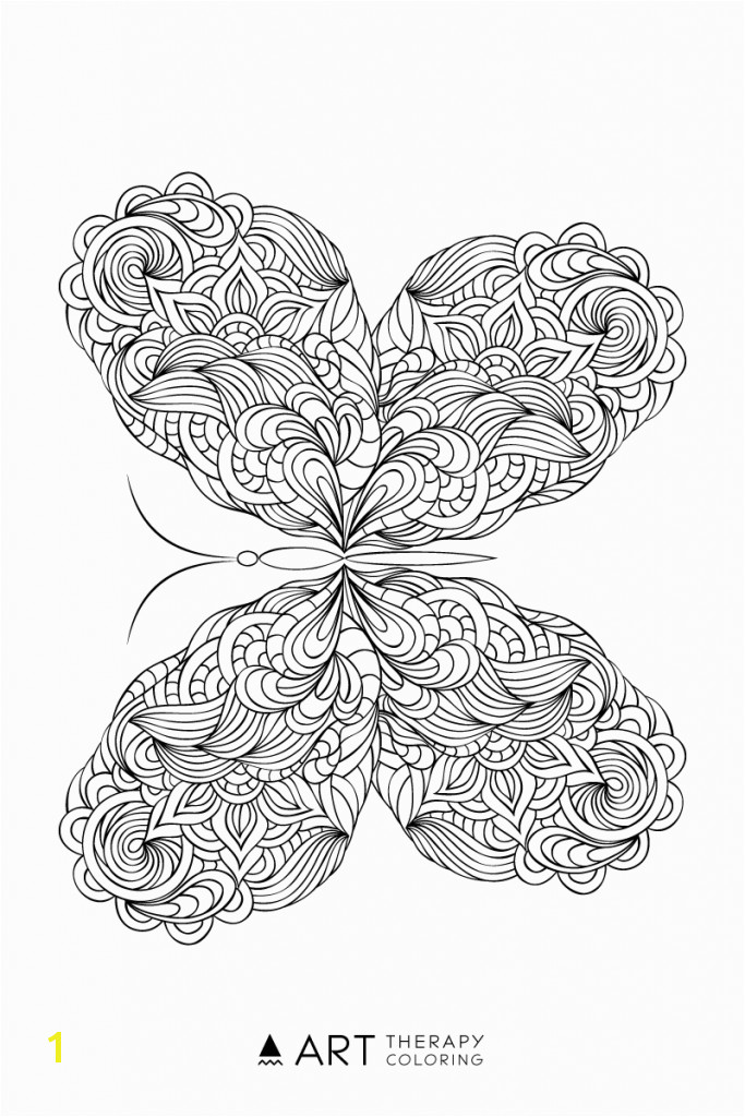 B is for butterfly Coloring Page Free butterfly Coloring Page for Adults