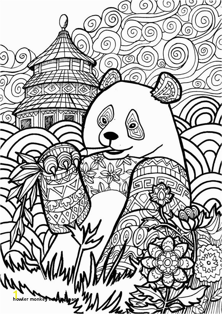 Howler Monkey Coloring Page Art Coloring Pages Printable 1082 Best Adult Coloring Pages