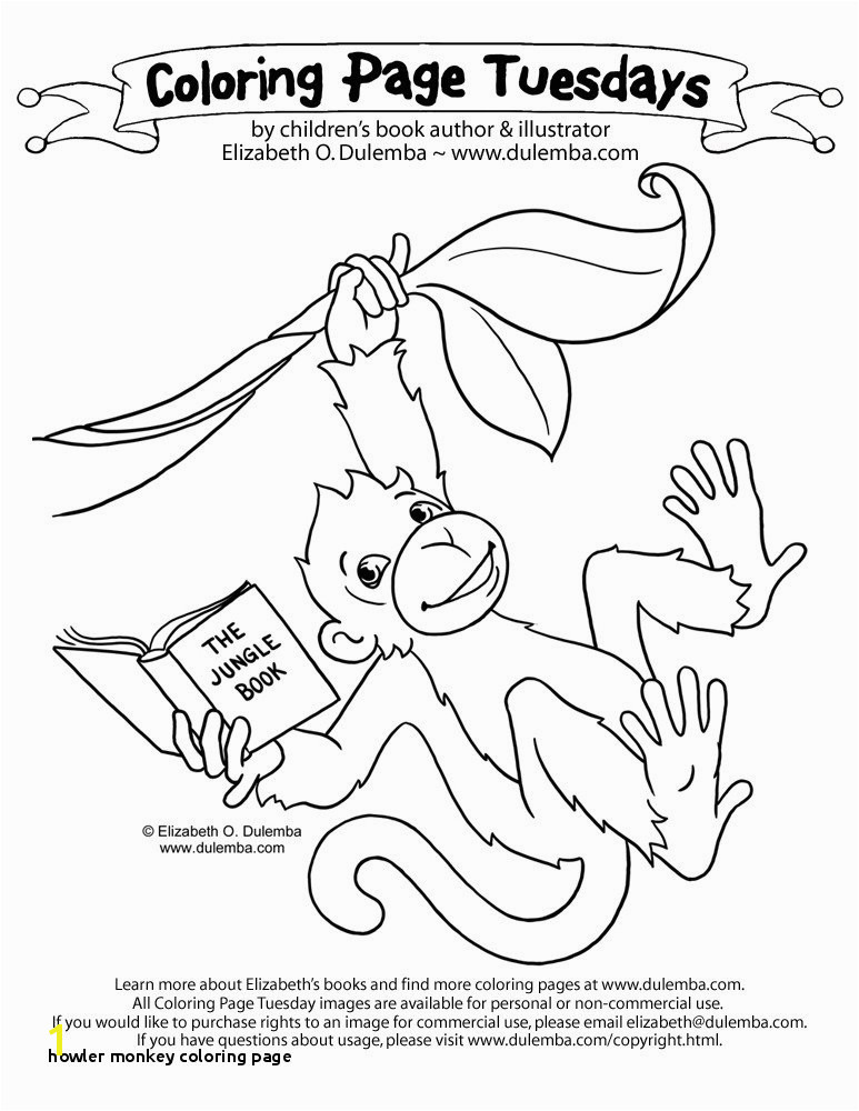 Howler Monkey Coloring Page Howler Monkey Coloring Page at Getcolorings