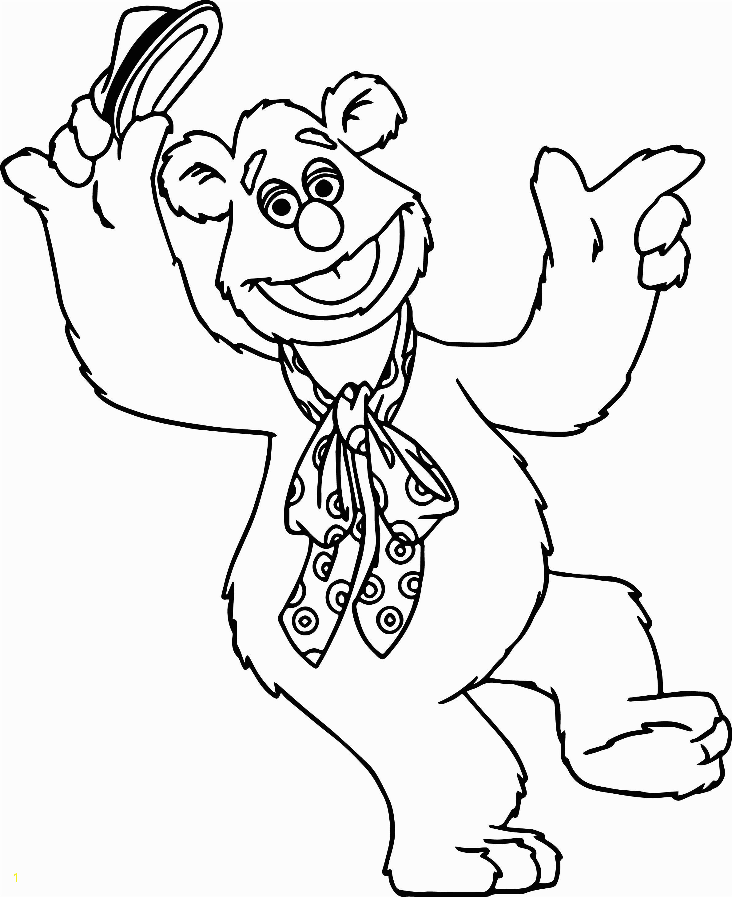 cool The Muppets Fozzie Bear Coloring Pages