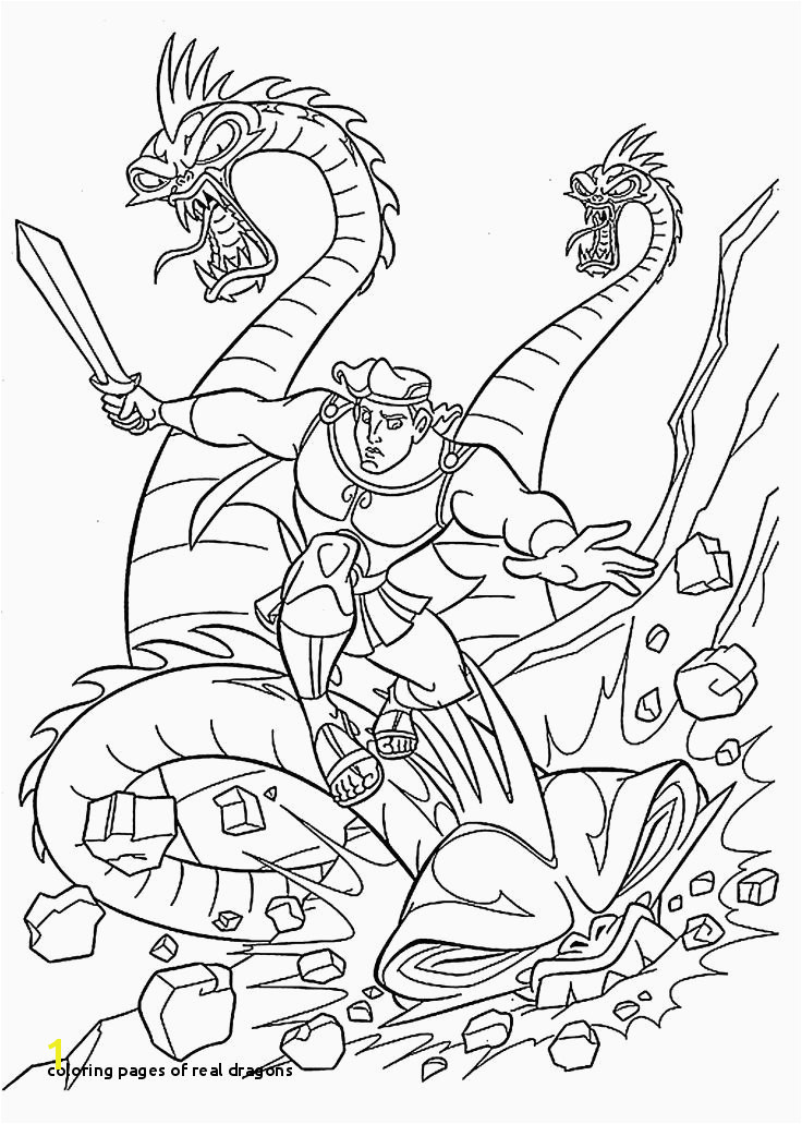 Coloring Pages Real Dragons Coloring Pages Dragon