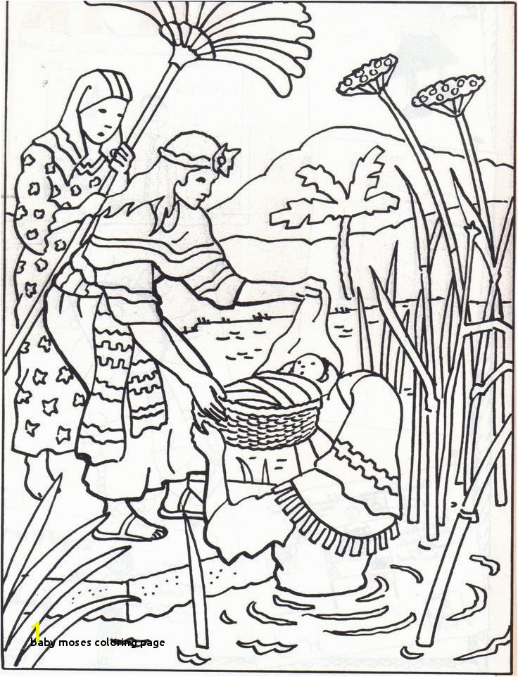 Baby Moses Coloring Page Miriam and Moses Coloring Page Fresh Printable Moses Coloring Pages