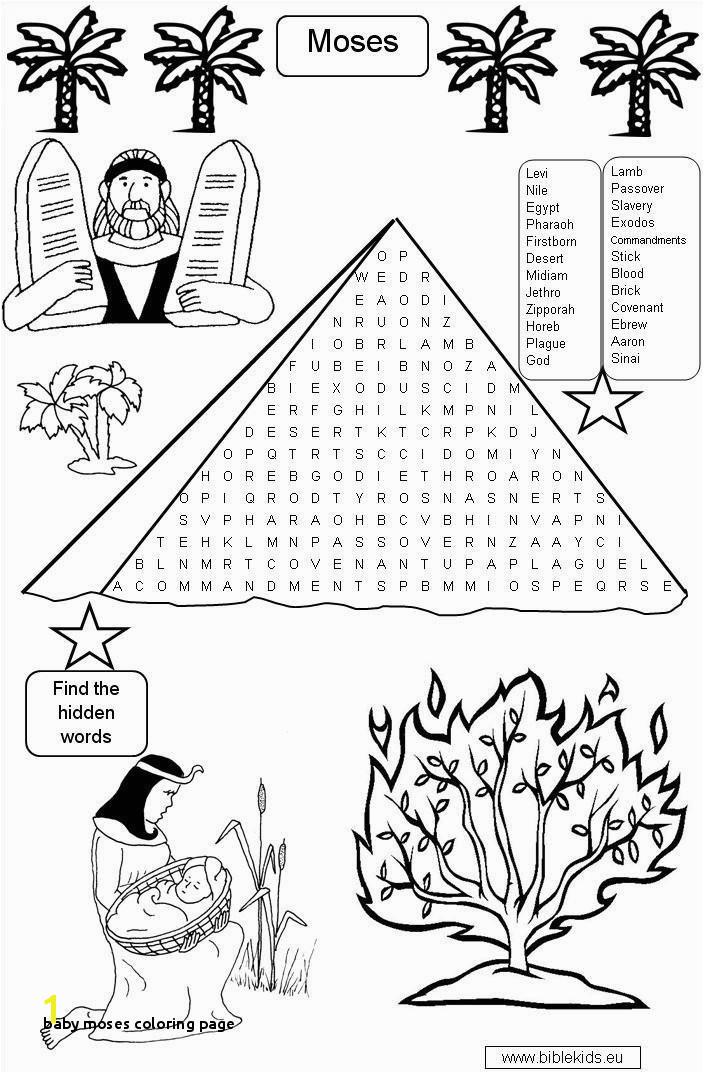 Baby Moses Coloring Page Moses Coloring Pages