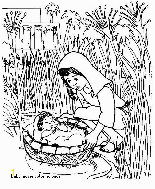 Baby Moses Coloring Page Printable 25 Baby Moses Coloring Page Mycoloring Mycoloring