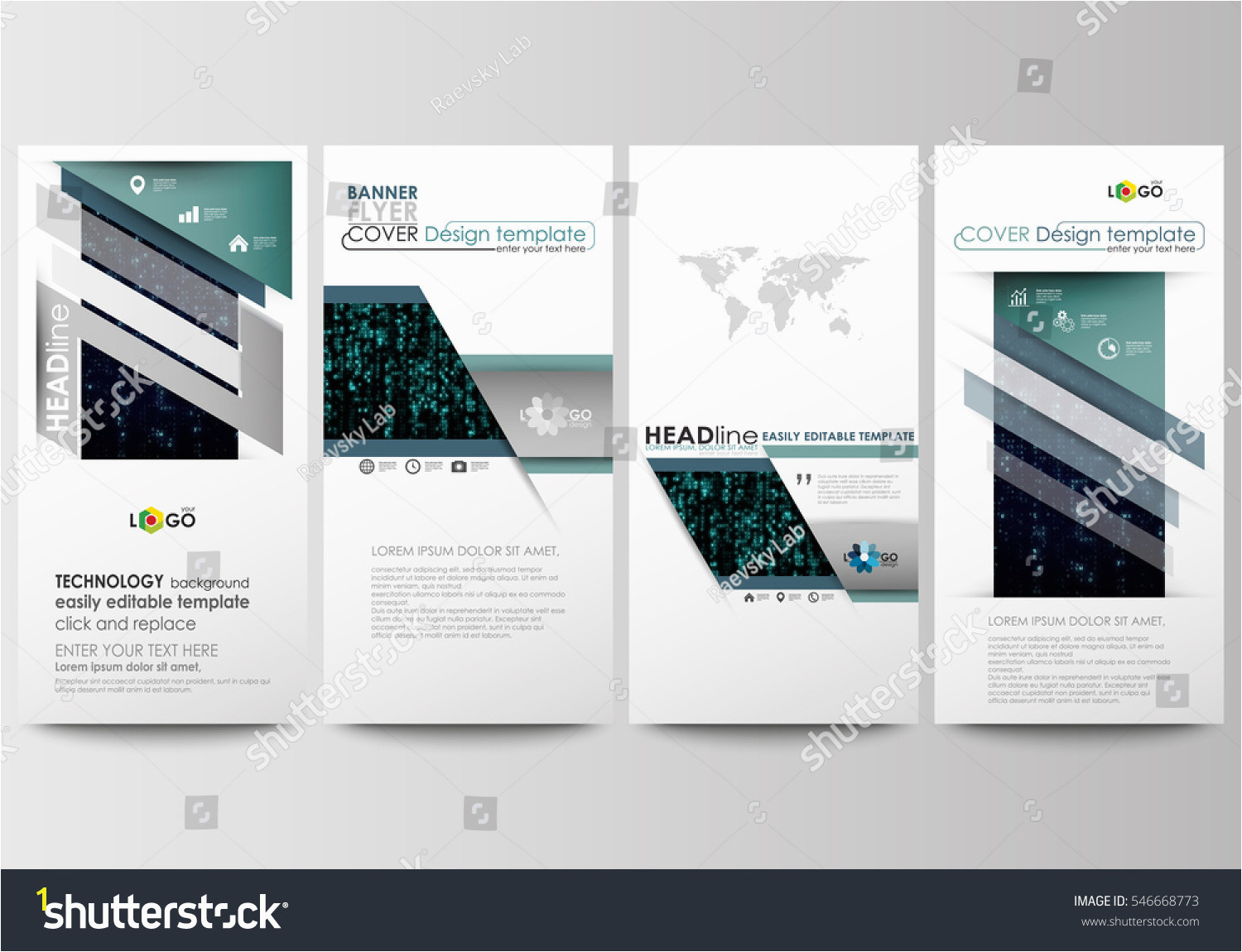 Background Color Codes for Web Pages Flyers Set Modern Banners Business Templates Cover Design
