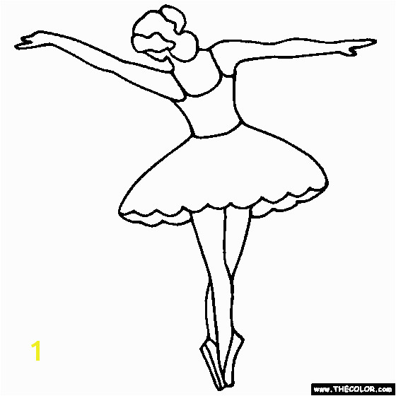 Ballerina Coloring Pages Pdf Tip toe Ballerina Coloring Page