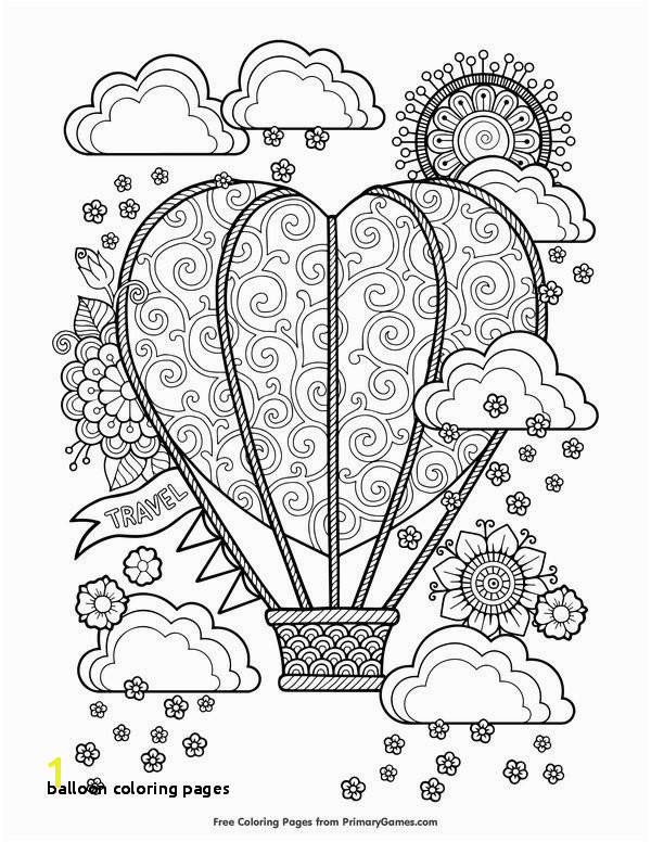 Printables 0d Archives Balloon Coloring Pages 27 Balloon Coloring Page