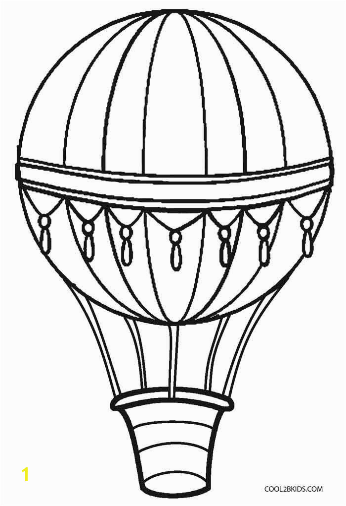 Balloon Coloring Pages New Printable Hot Air Balloon Coloring Pages for Kids Balloon Coloring Pages