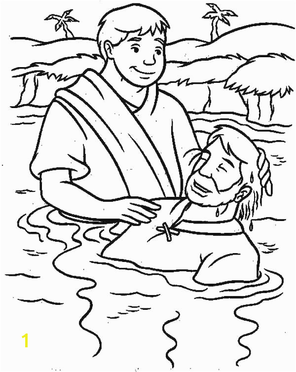 Easy to Draw Jesus Free Coloring Pages Jesus Baptism Unique to Coloring Page Awesome