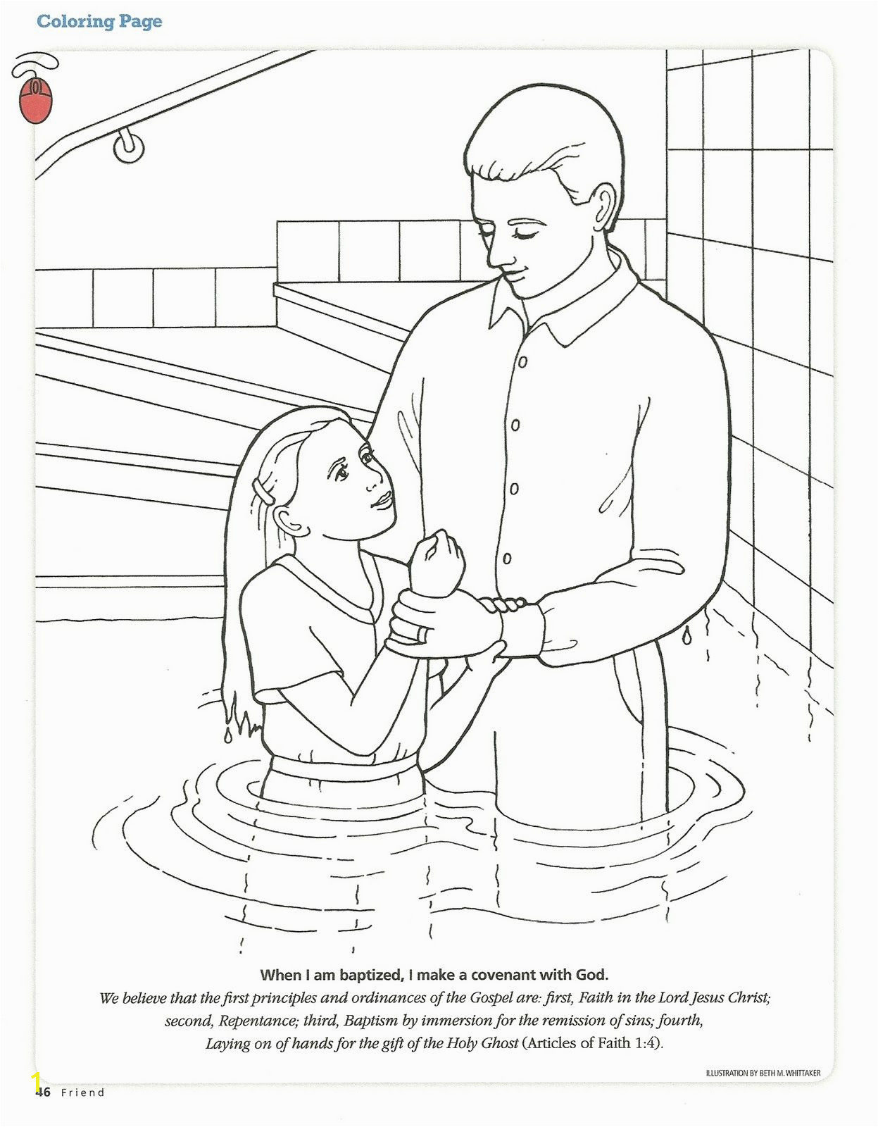 Baptism Coloring Pages Helping Others Coloring Pages