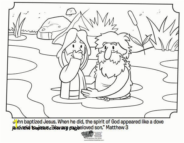 Baptism Coloring Pages John the Baptist Coloring Page Jesus Baptism Coloring Page Lovely