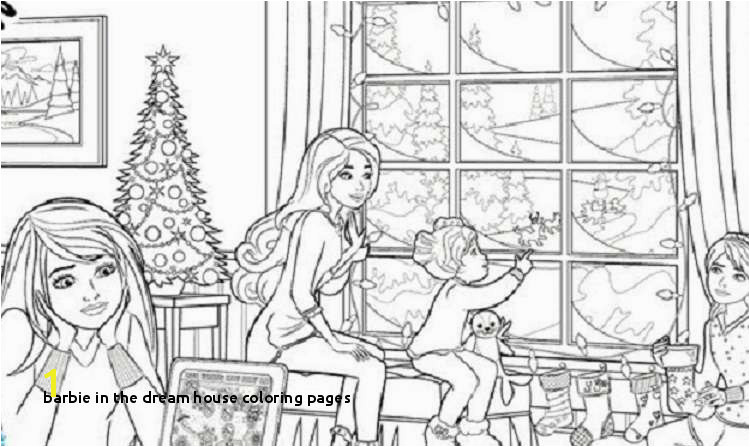 Barbie Dream House Coloring Pages Awesome Barbie Colour In Colouring