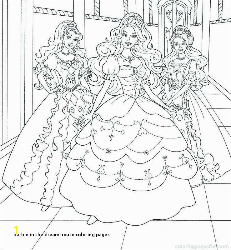 Barbie In the Dream House Coloring Pages Barbie Dream House Coloring Pages Awesome Barbie Colour In