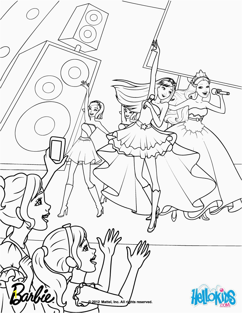 Happy Barbie Rock N Royals Coloring Pages Roll Paginone Biz 3712 Barbie Princess and the Popstar