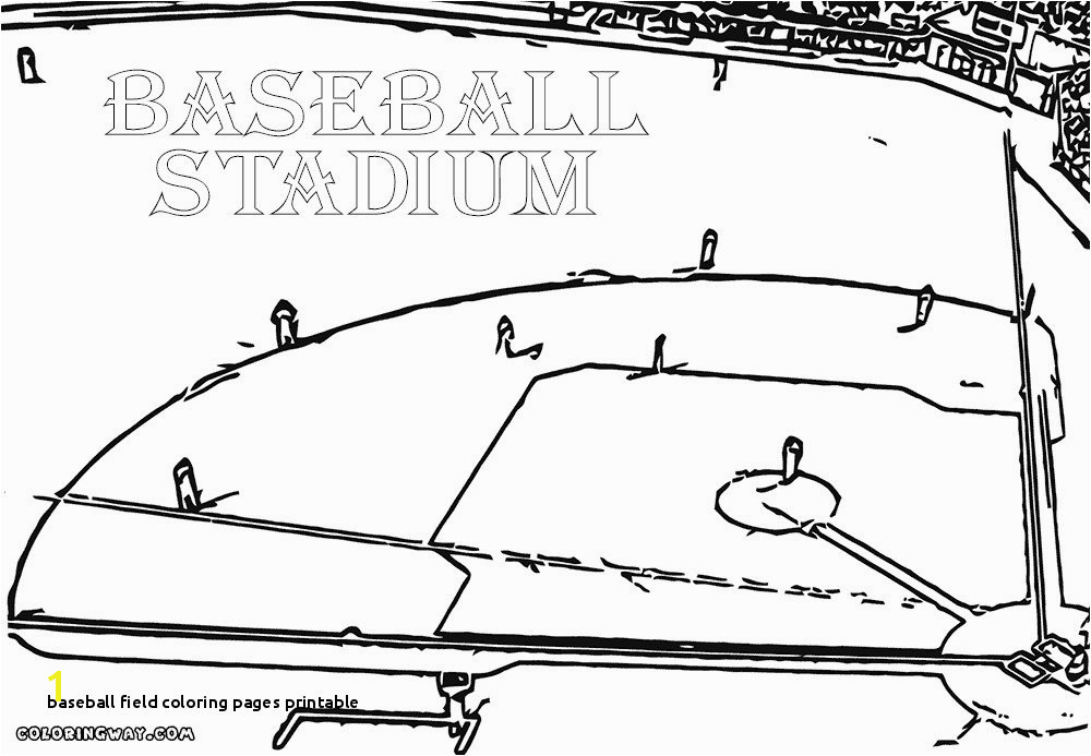 Baseball Field Coloring Pages Printable Beautiful Baseball Field