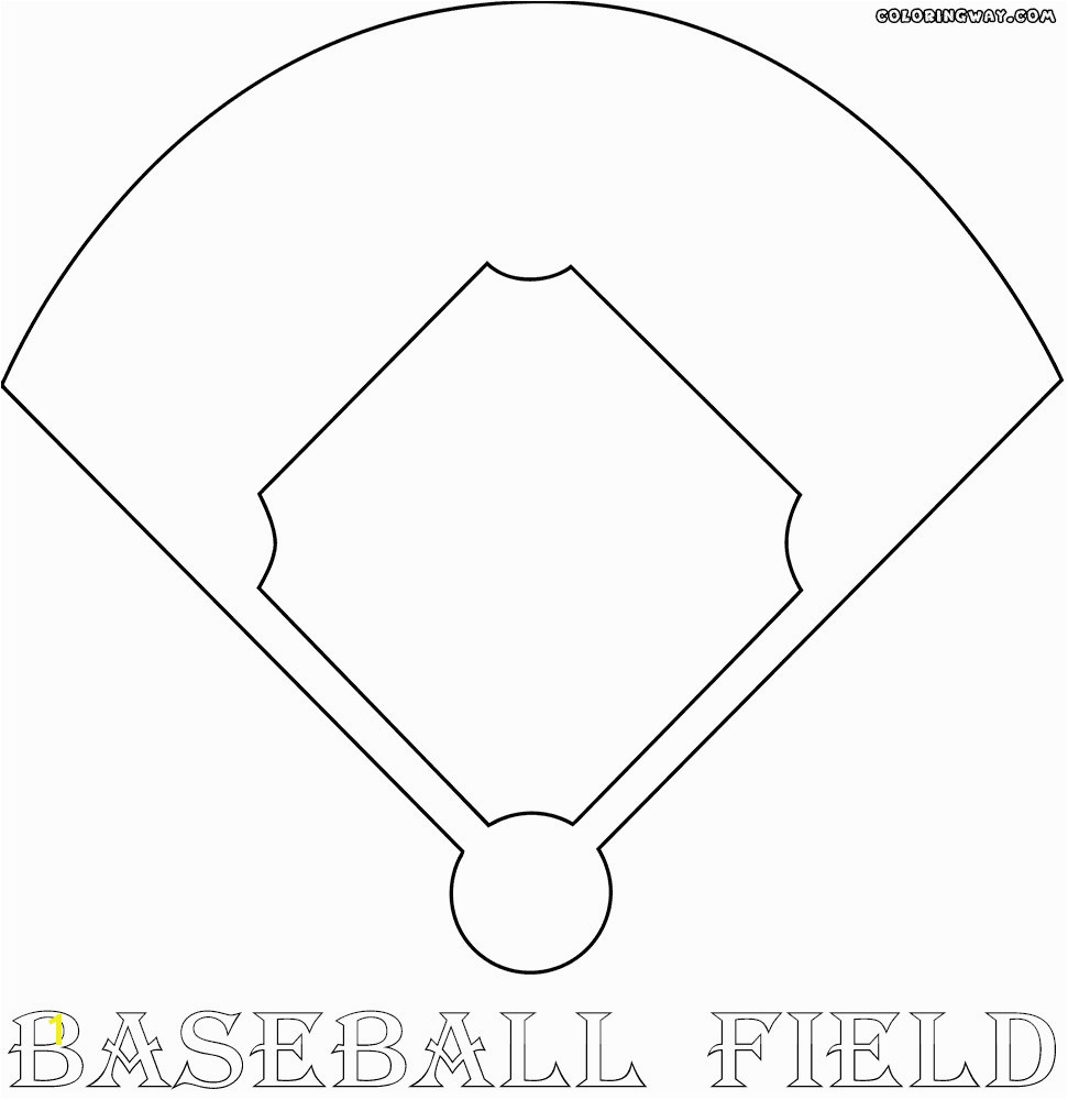 Baseball Field Coloring Pages Unique Baseball Field Coloring Pages Baseball Field Coloring Pages Awesome Picture
