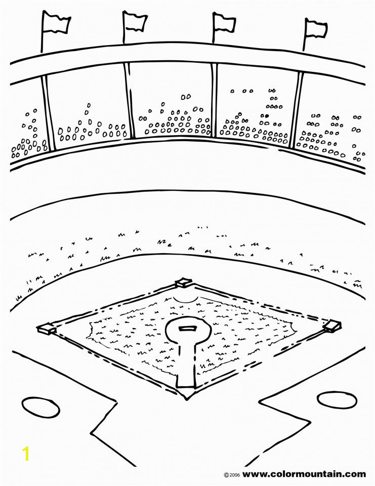 Baseball Field Coloring Pages Best Printable Baseball Diamond Coloring Page for Kids for Adults In