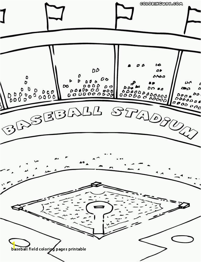 27 Baseball Field Coloring Pages Printable