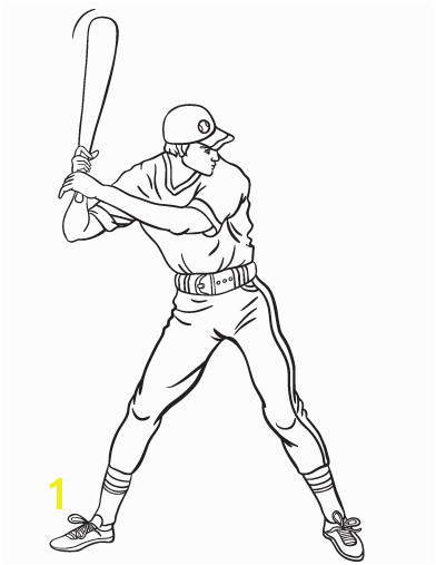 Printable baseball player coloring page Free PDF at coloringcafe