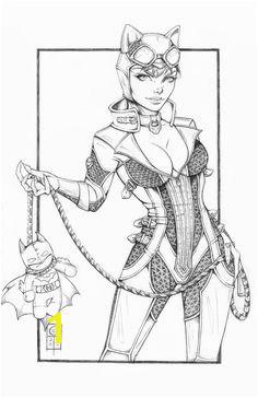 Arkham Catwoman Pencils