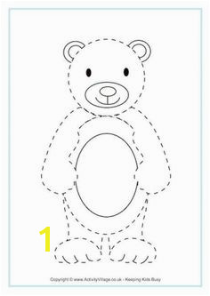 This is one very versatile teddy bear template Print in various sizes to draw around and make your own pictures cards or decorations