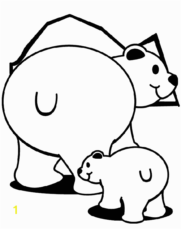 Polar Bears coloring page