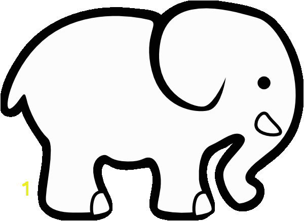 Print and cut out images from coloring pages to create your own custom art This elephant can easily be cut out and and placed on colored paper or fabric or