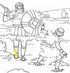 David en Goliath verbind de cijfers activiteit David and Goliath connect the dots activity