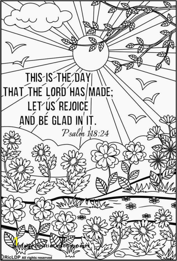 16 Inspirational Printable Christian Coloring Pages