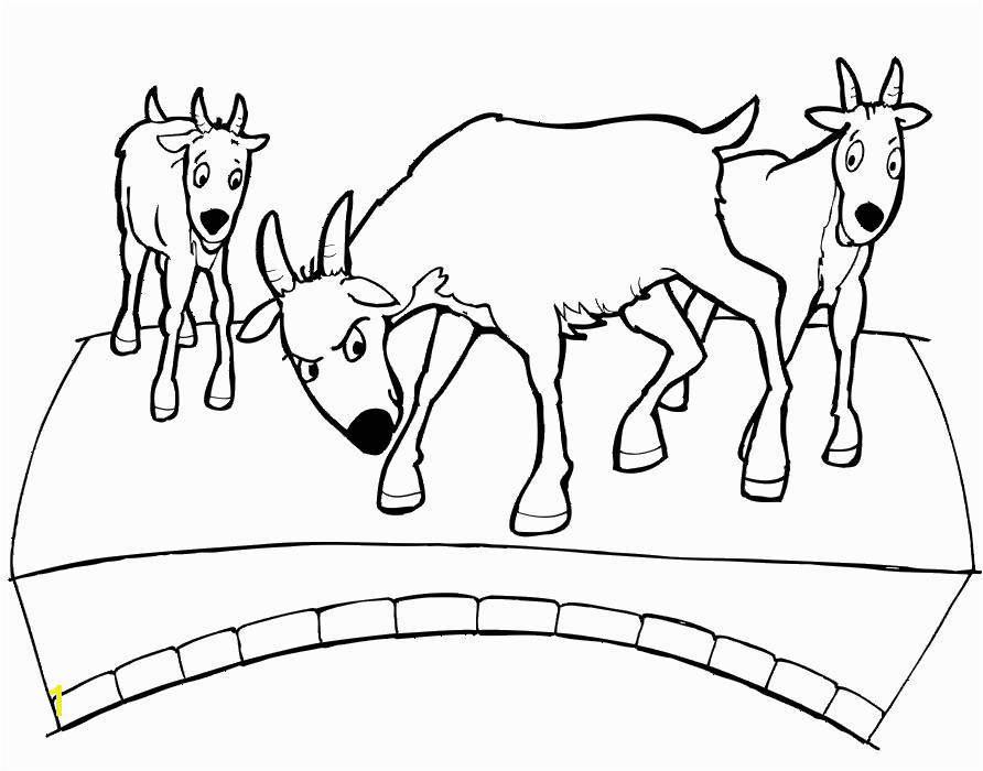 Billy Goats Gruff Coloring Page · Elvenpath Coloring Pages