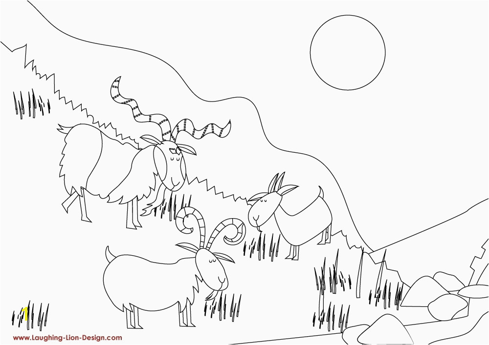 Awareness Three Billy Goats Gruff Coloring Page Az Coloring Pages
