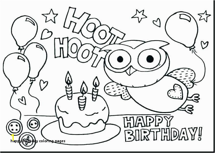 Free Printable Happy Birthday Coloring Pages Throughout Printable