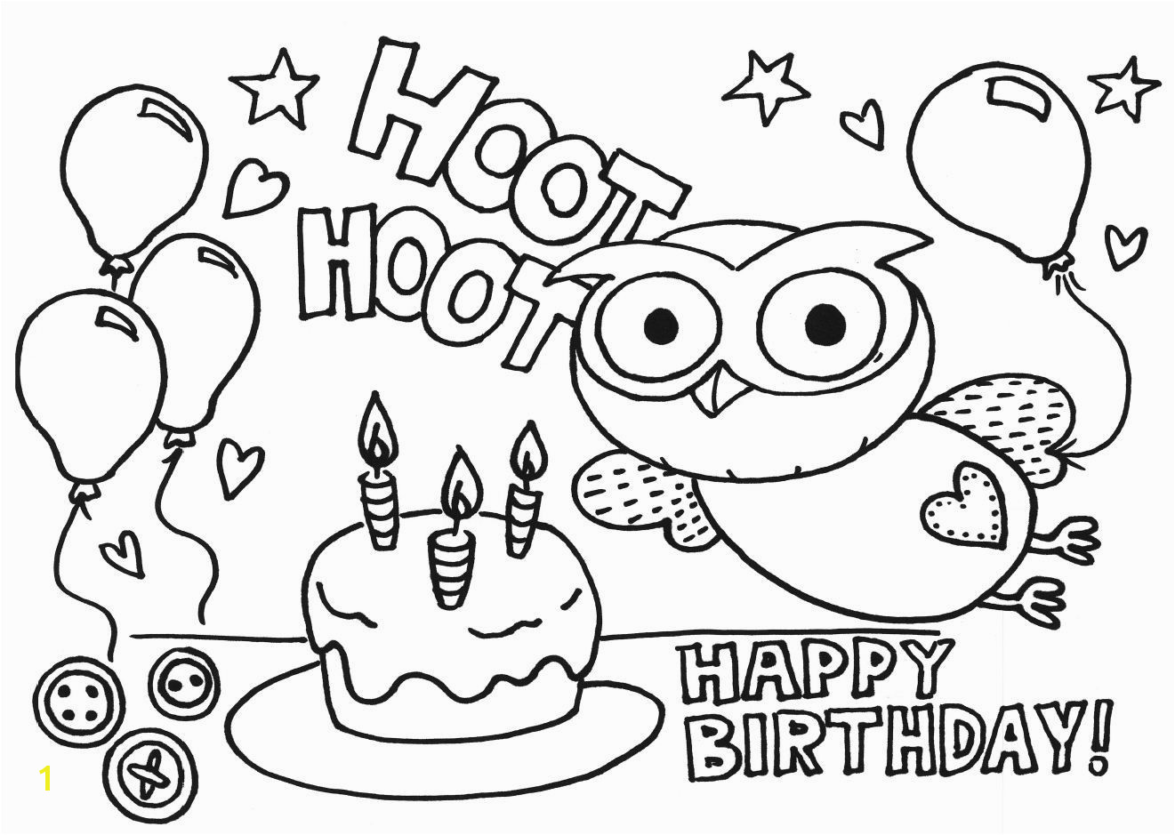 "Milk Eyes ""Giggle And Hoot"" Free Download Colouring Pages Birthday Party Activities For Young Kids"